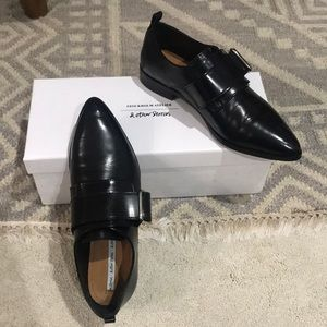 And Other Stories black buckle loafers